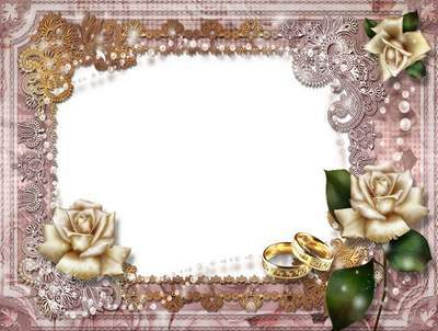 Vintage Wedding Frame - A Happy Day