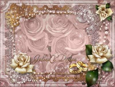 Vintage Wedding Frame - A Happy Day