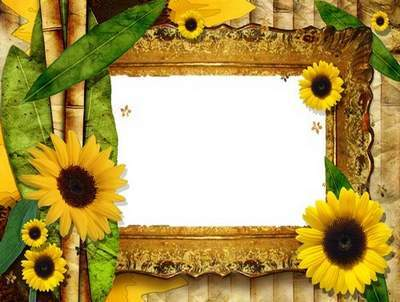 Vintage Frame - Flowers of Sun