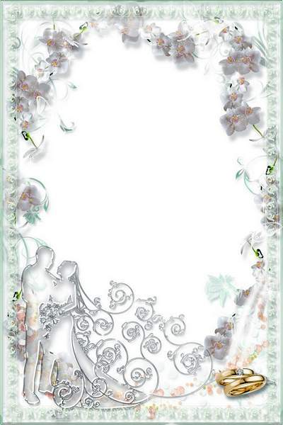 Wedding Frame - Orchid, Love and Youth Flower