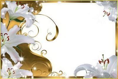 Рамка для фото - Лилии в золоте