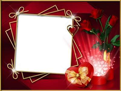 Greeting frame on a red background to the Women's Day