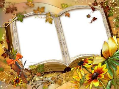 Frames - Autumn yellow book read to me in October