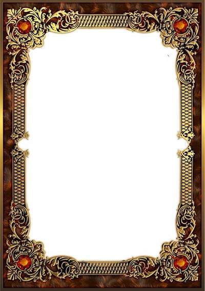 Gold photo frame with topaz - Luxury portrait