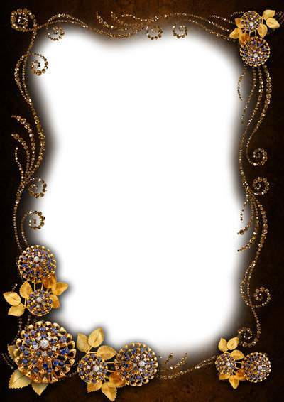 Frame for Photoshop - Glint of gold on a portrait