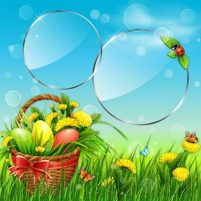 PSD source - Easter day, pure nature