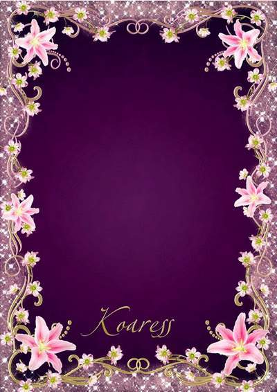 Photo frame - Glamorous sheen and softness of pink flowers