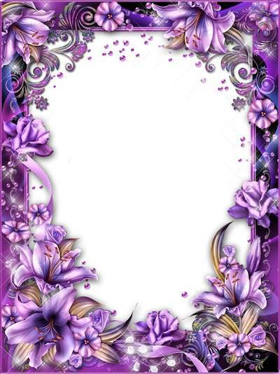 Frames - The echo of lilac mist swirled lilies in the garden