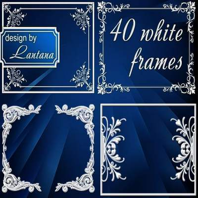 Delicate frame-notch for Photoshop - My white color - the merging of all colors