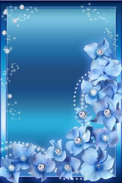 Woman's Photoframe - Blue Glamour