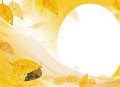 PSD, PNG Photoframe - Autumn dream