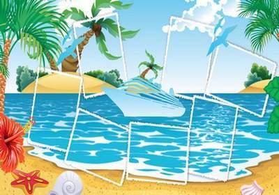 Photobook for photos in nautical style - Holidays