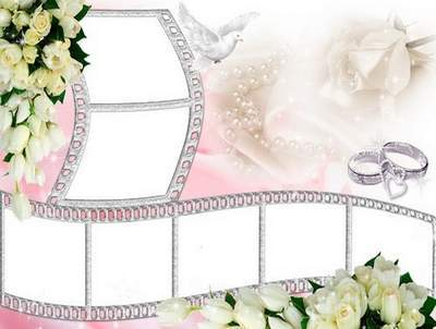 Wedding frame for Photoshop - A film about happiness