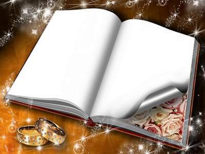 Frame for Photoshop - Blue Wedding Book