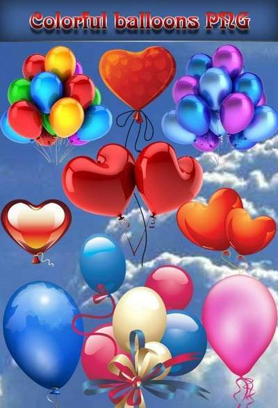 Clipart PNG Colorful balloons - 50 PNG Images transparent background