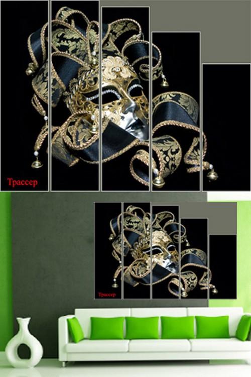 Polyptych in PSD format - Venetian mask