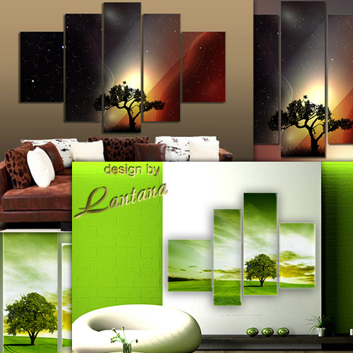 Polyptych in PSD - Lonely tree