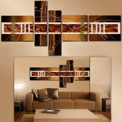 Polyptych in PSD - Abstraction in shades of brown