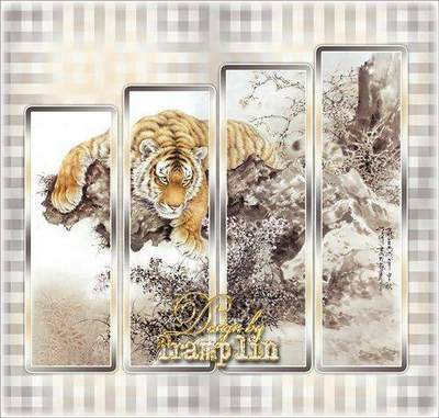 Polyptych - Lion - the king of beasts