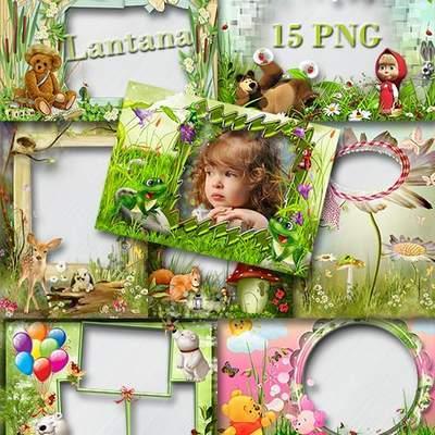 Children frame - In a forest glade