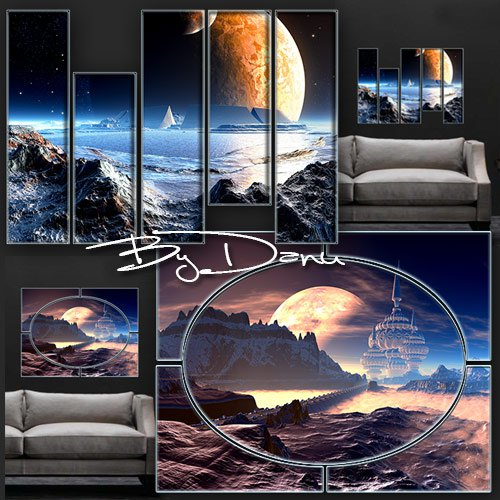 Two polyptych in PSD format - We're alone on an alien planet