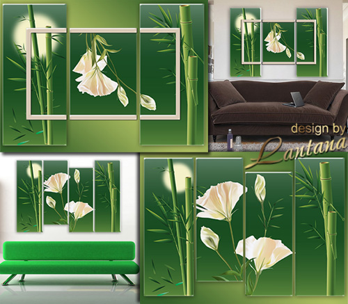 Polyptych in PSD - Bamboo