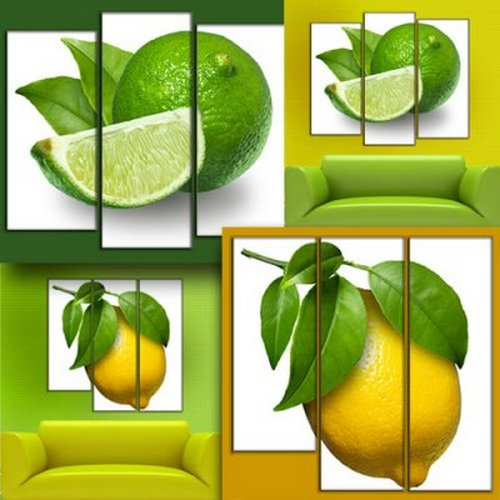 Two Triptych (polyptych) in PSD format - The Lemon mood