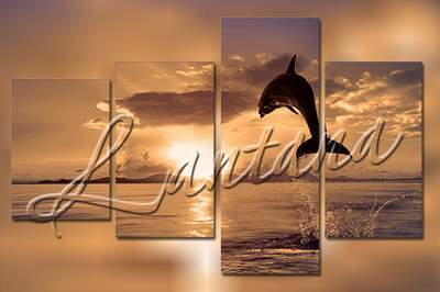 Polyptych in PSD - Dolphins