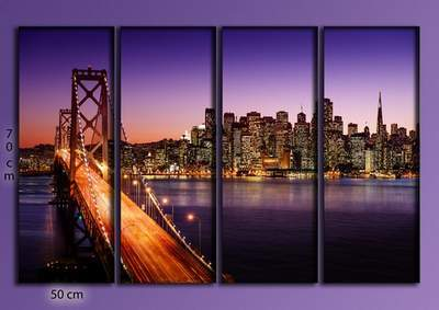 Polyptych - Night Lights San - Francisco
