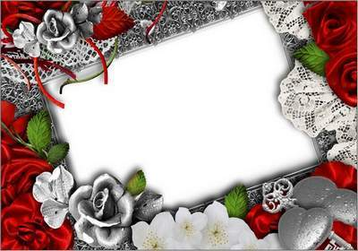 Love photoshop Frame - Two tender hearts