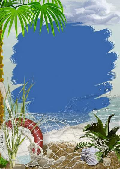 Two sea frames for Photoshop - On the seashore