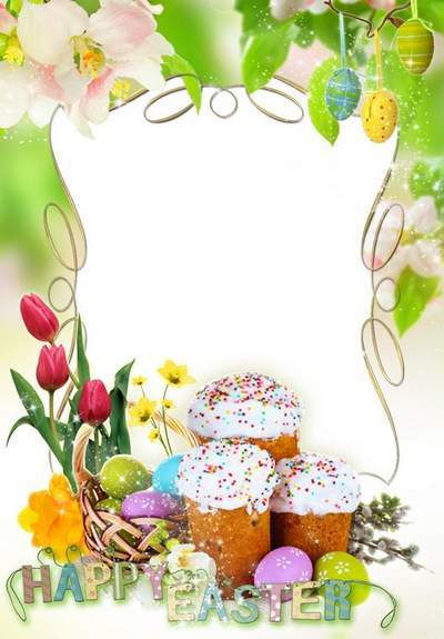 Holiday photo frame PSD  PNG - Easter and wake up the earth