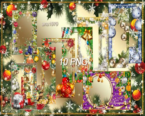 Collection of Christmas framework - Soon new year