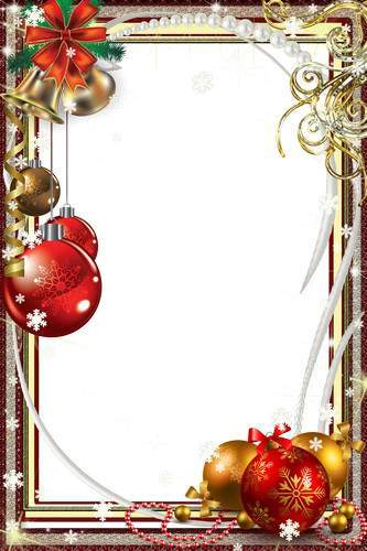 A set of Christmas frames - New Year's Eve
