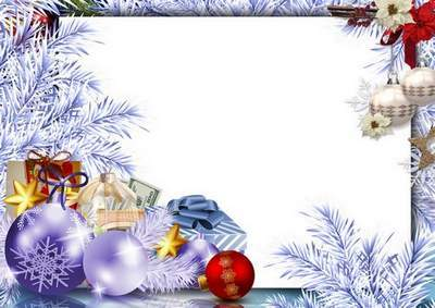 Collection of Christmas frame for photo - Let the New Year Santa Claus will bring happiness a cart
