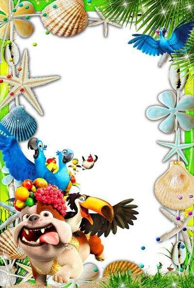Bright children's frames for photos with the characters m / f Rio - The long-awaited summer vacation
