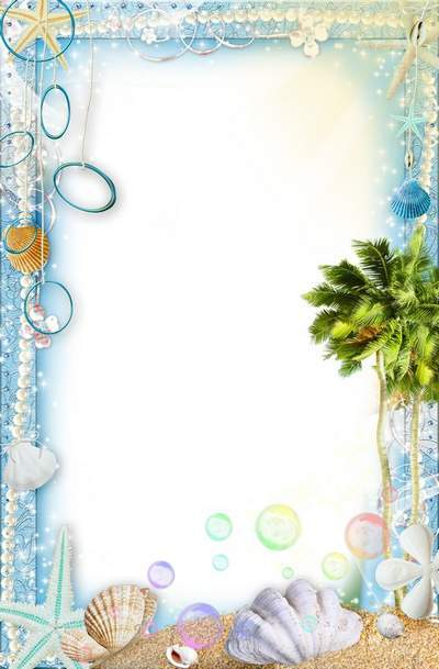 Summer frames for photos - Magical vacation at sea