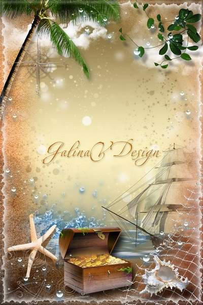 Summer Frame for Photoshop - Treasure of the Black Sea