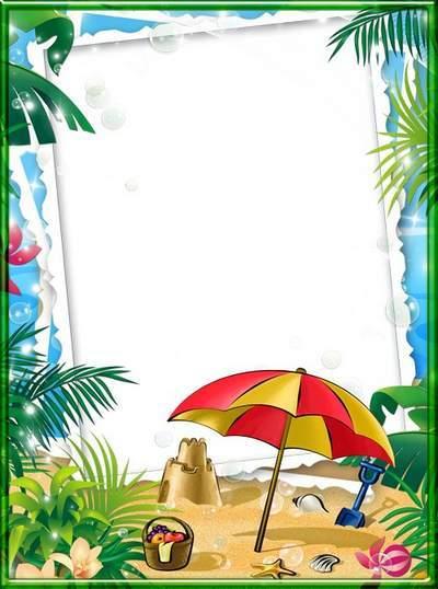 Children frame for Photoshop - Sea joy