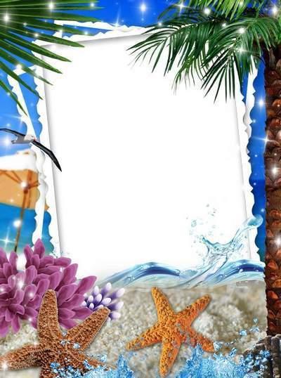 Women's Frame for Photoshop - Calm Sea