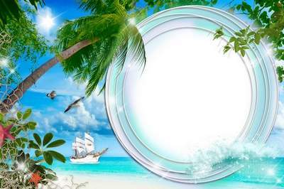 Summer Frame for a photo - Sea Landscape