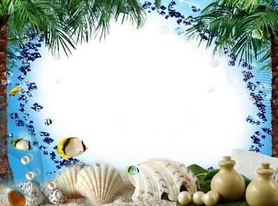 Marine photoshop frames - Melody Sea