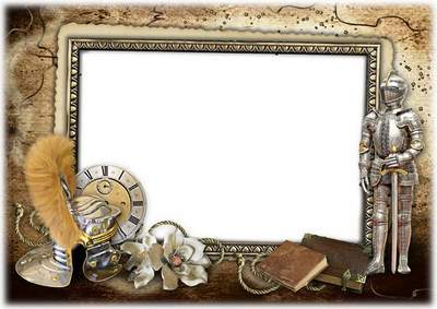 Photo frame template (layered psd) for the men's portraits - The true knights