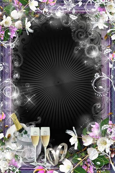 Wedding Frame - Let your life be blossoming and rich