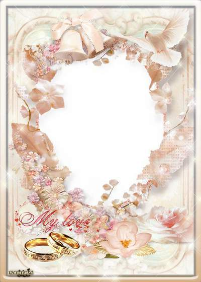 Wedding frame - Wedding the most delightful day in life