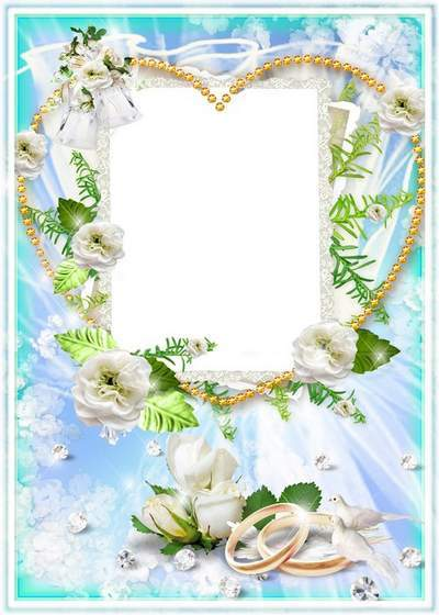 Wedding frame - Wedding the most important and light triumph in life of two people