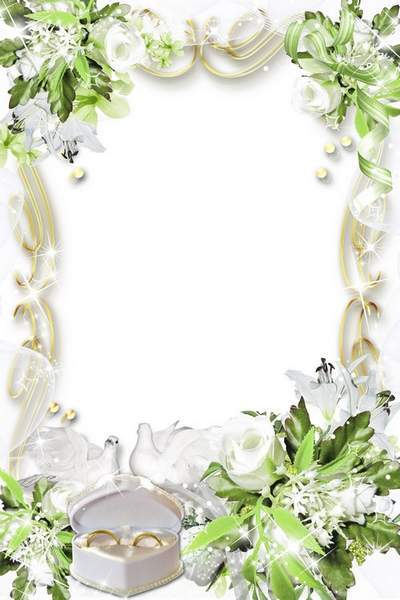 Wedding photo frame - We wish you a life long and happy