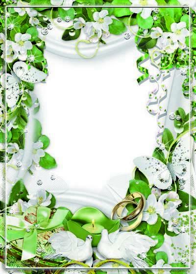 Wedding frame for photo - Fire of Love. Transparent PNG Frame ...
