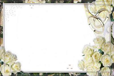 Frames for Photo - Wedding Roses (1)