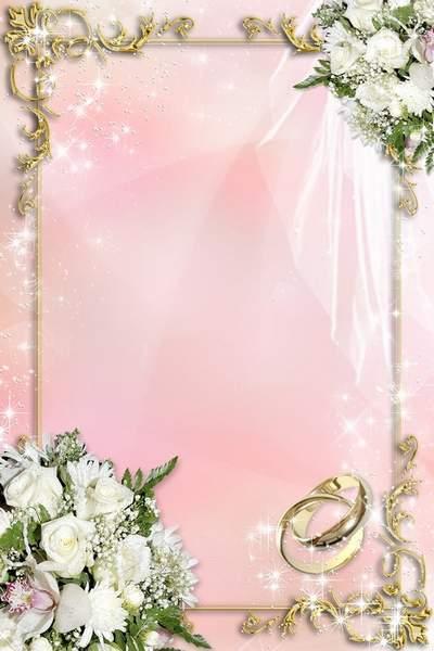 Wedding Frame - White as Snow Wedding Flowers